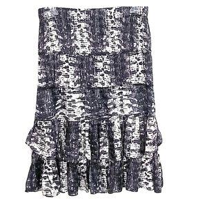 Isabel Marant silk boho layered ruffle tiered midi